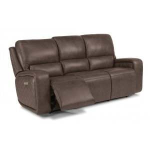 Blade Leather Power Reclining Sofa w/Power Headrests