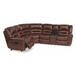 Town 6 PC Power Reclining Sectional w/Power Headrests