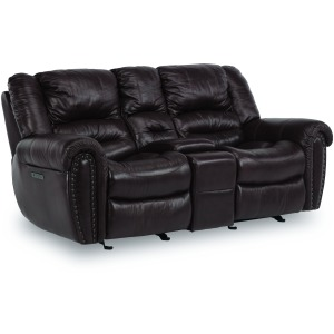 Town Power Reclining Loveseat w/ Console, Pwr Headrests