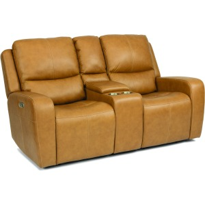 Aiden Power Reclining Loveseat w/ Console, Pwr Headrests