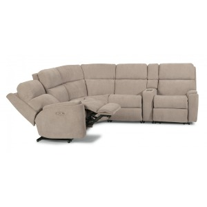 Rio 6 PC Power Reclining Sectional w/Power Headrests