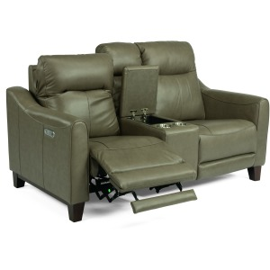 Forte Power Reclining Loveseat w/ Console, Pwr Headrests