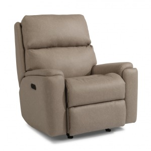 Fabric Power Rocking Recliner with Power Headrest