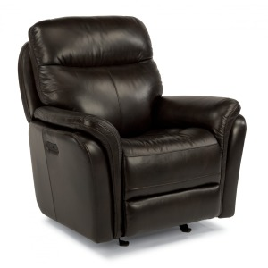 Zoey Leather Power Gliding Recliner w/ Power Headrest