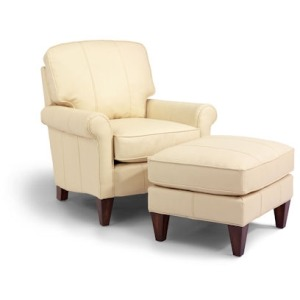 Harvard NuvoLeather Chair & Ottoman