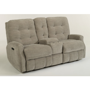 Devon Power Reclining Loveseat with Console and Power Headrests and without Nailhead Trim