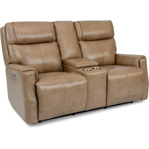Holton Power Reclining Loveseat w/ Console, Pwr Headrests