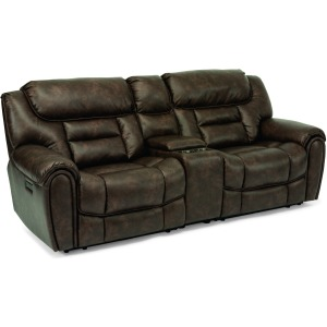 Buster Power Reclining Loveseat w/ Console, Pwr Headrests