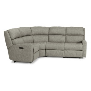 Catalina Fabric Reclining Sectional w/Power Headrest