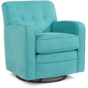 Lavender Fabric Swivel Chair