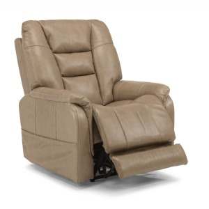 Theo Leather Power Recliner w/Power Headrests