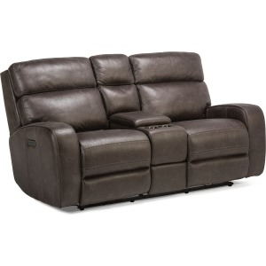Tomkins Park Power Reclining Loveseat w/Console & Power Headrests