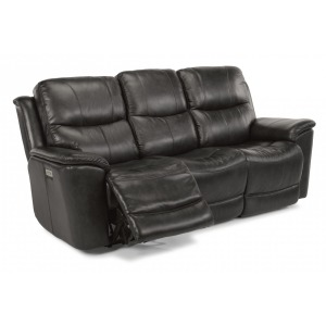 Cade Leather Power Reclining Sofa w/ Power Headrests