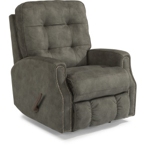 Fabric Rocking Recliner with Nailhead Trim