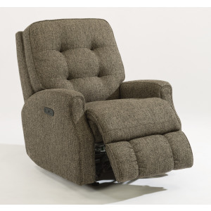 Devon Fabric Power Recliner with Power Headrest without Nailhead Trim