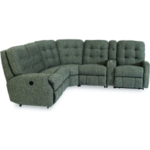 Devon Power Reclining Sectional with Power Headrests