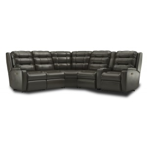 Arlo 6 PC Power Reclining Sectional w/Power Headrests & Lumbar