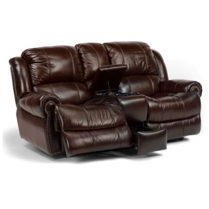Capitol Leather Power Love Seat w/ Console