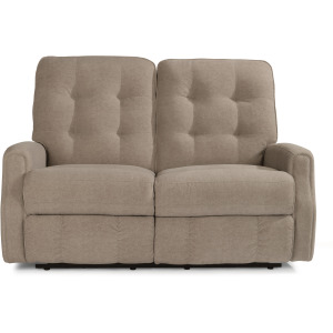 Devon Power Reclining Loveseat with Power Headrests and without Nailhead Trim