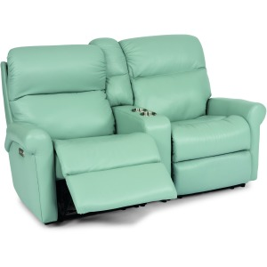 Davis Power Reclining Loveseat w/ Console & Power Hdrsts