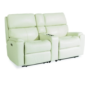 Rio Power Reclining Loveseat w/ Console & Power Headrests