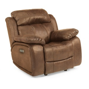 Como Fabric Power Gliding Recliner w/ Power Headrest