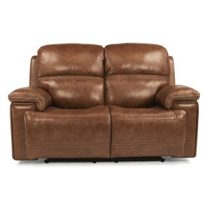 Fenwick Leather Power Reclining Loveseat W/ Power Headrests