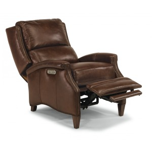 Bishop Leather Power Hi-Leg Recliner W/ Power Headrest