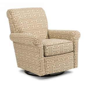 Plaza Fabric Swivel Glider w/out Nailhead Trim