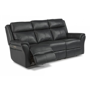 Pike Leather Power Reclining Sofa w/ Power Headrests