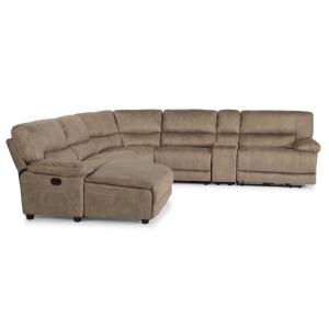 Delia 6 PC Fabric Power Reclining Sectional