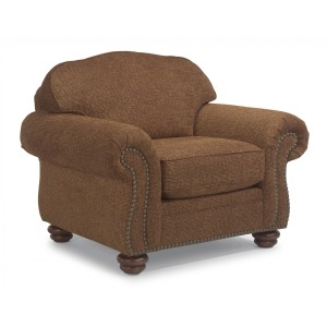 One-Tone Fabric Chair with Nailhead Trim
