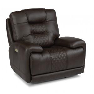 Royce Leather Power Recliner w/Power Headrest