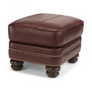 Bay Bridge Leather Ottoman