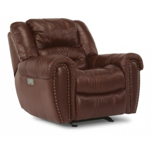 Crosstown Leather Power Recliner w/Power Headrest