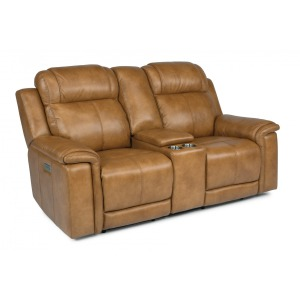 Kingsley Power Reclining Loveseat w/Console & Power Headrests