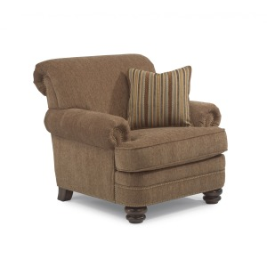 Bay Bridge Fabric Chair w/ Nailhead Trim