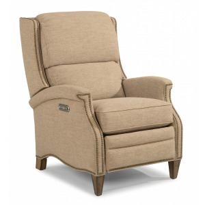 Priscilla Fabric Power High-Leg Recliner w/ Power Headrest