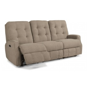 Devon Power Reclining Sofa w/Power Headrests & w/out Nailhead Trip