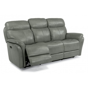 Zoey Leather Power Reclining Sofa w/Power Headrests