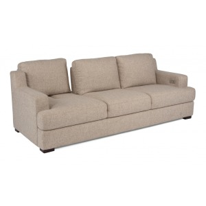 Dowd Three-Cushion Fabric Power Sofa