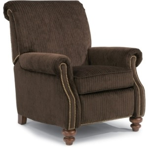Bay Bridge Fabric High Leg Recliner