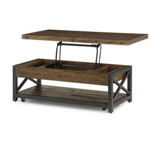 Carpenter Rectangular Lift-Top Coffee Table w/Casters