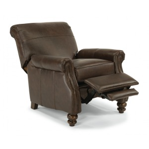 Bay Bridge Leather Power High-Leg Recliner