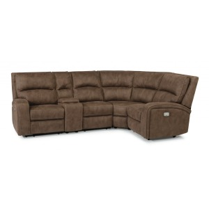 Nirvana 6 PC Power Reclining Sectional w/Power Headrests
