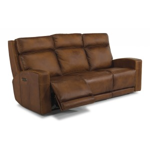Archer Leather Power Reclining Sofa w/Power Headrests