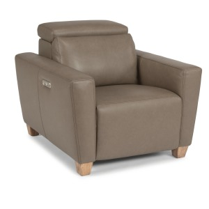 Astra Leather Power Recliner w/Power Headrest