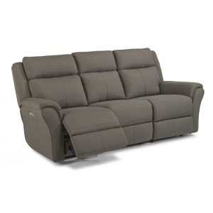 Pike Fabric Power Reclining Sofa w/Power Headrests