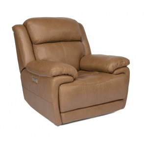 Elijah Leather Power Recliner w/Power Headrests