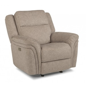 Silas Fabric Power Gliding Recliner w/Power Headrest
